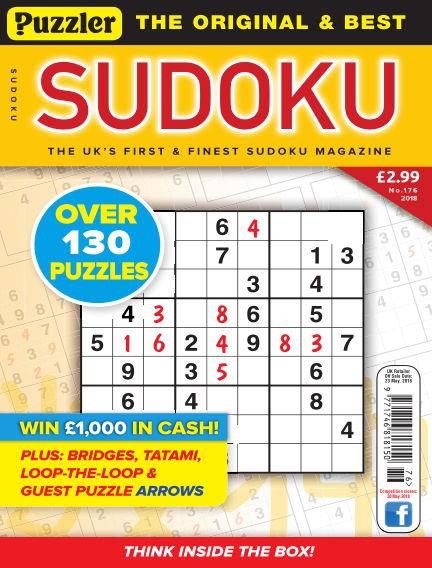 Puzzler Sudoku May 02, 2018 00:00