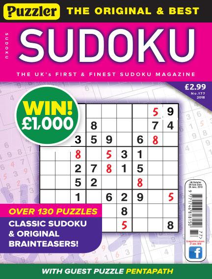 Puzzler Sudoku May 23, 2018 00:00