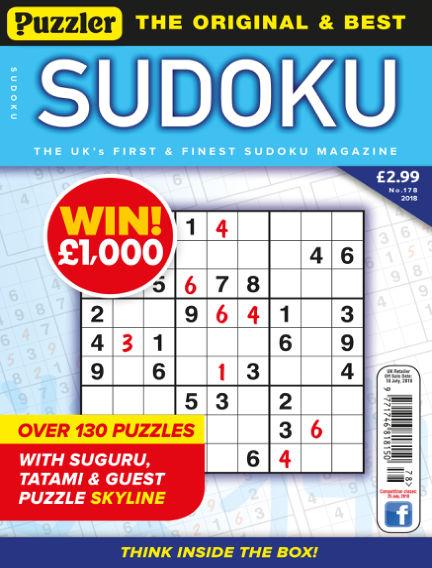 Puzzler Sudoku June 20, 2018 00:00