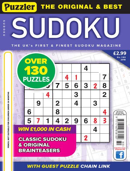 Puzzler Sudoku August 15, 2018 00:00