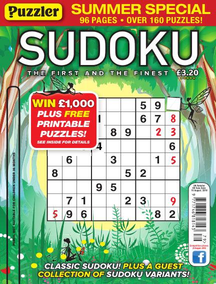 Puzzler Sudoku July 18, 2018 00:00