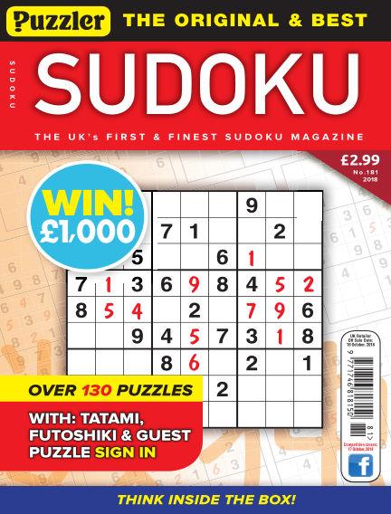 Puzzler Sudoku September 12, 2018 00:00