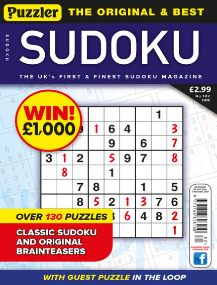 Puzzler Sudoku October 10, 2018 00:00