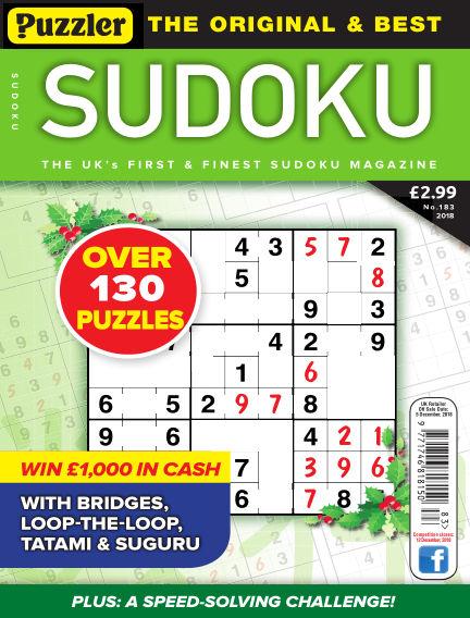Puzzler Sudoku November 07, 2018 00:00