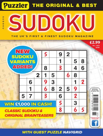 Puzzler Sudoku January 02, 2019 00:00