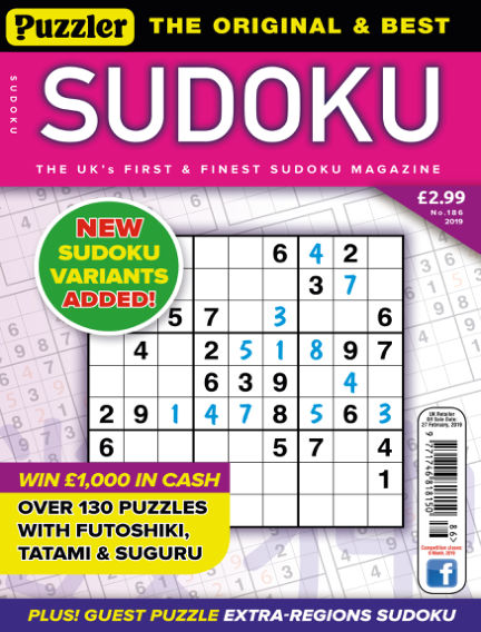 Puzzler Sudoku January 30, 2019 00:00