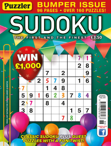 Puzzler Sudoku April 03, 2019 00:00