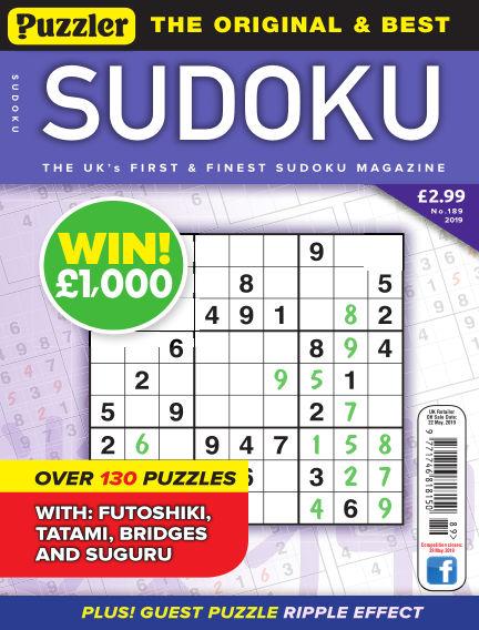 Puzzler Sudoku May 01, 2019 00:00