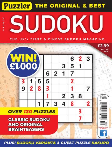 Puzzler Sudoku May 22, 2019 00:00
