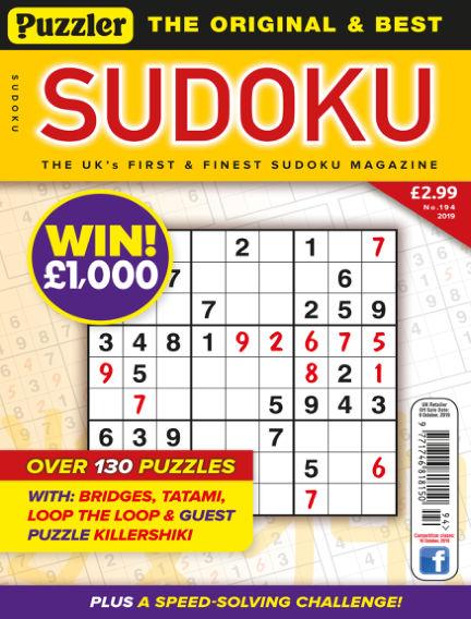 Puzzler Sudoku September 11, 2019 00:00