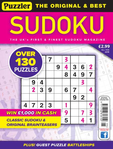 Puzzler Sudoku October 09, 2019 00:00