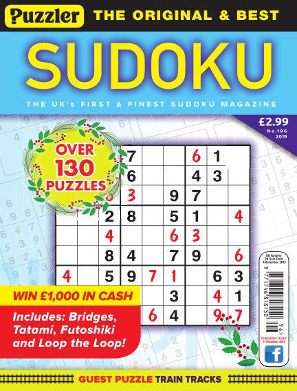 Puzzler Sudoku November 06, 2019 00:00