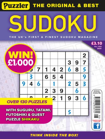 Puzzler Sudoku January 02, 2020 00:00