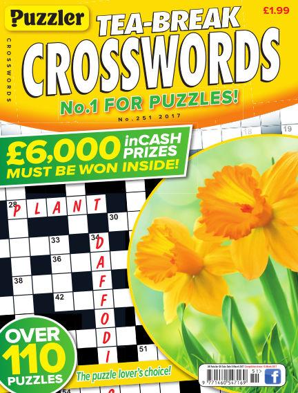 Puzzler Tea-Break Crosswords February 08, 2017 00:00
