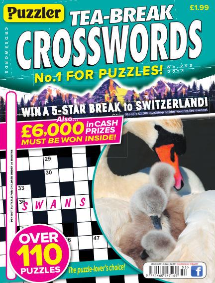 Puzzler Tea-Break Crosswords April 05, 2017 00:00