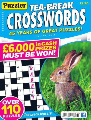 Puzzler Tea-Break Crosswords No.265