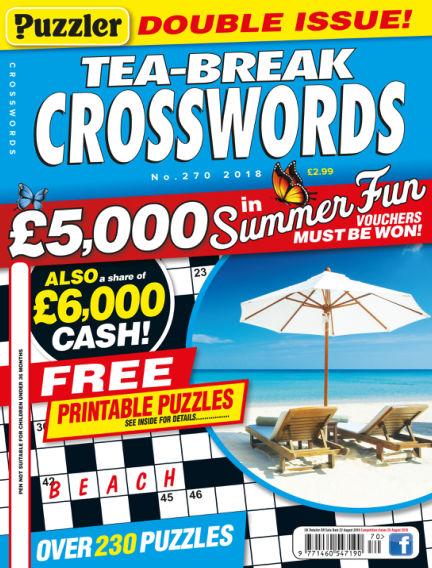 Puzzler Tea-Break Crosswords July 25, 2018 00:00