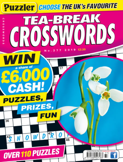 Puzzler Tea-Break Crosswords February 06, 2019 00:00