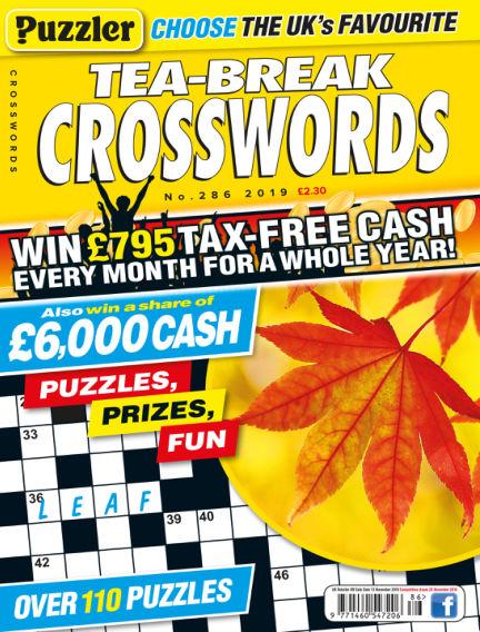 Puzzler Tea-Break Crosswords October 16, 2019 00:00