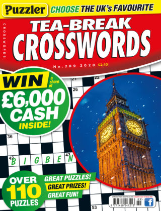 Puzzler Tea-Break Crosswords No.289