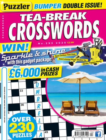 Puzzler Tea-Break Crosswords April 01, 2020 00:00