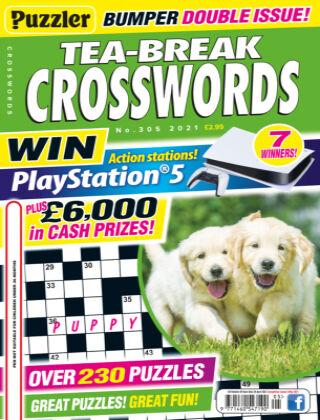 Puzzler Tea-Break Crosswords No.305