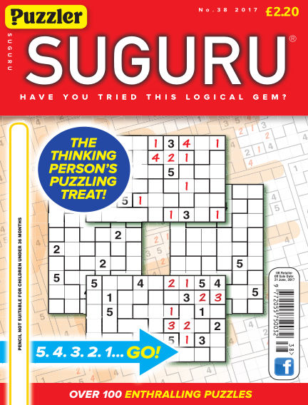 Puzzler Suguru June 20, 2017 00:00