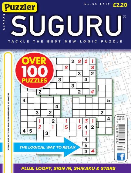 Puzzler Suguru June 24, 2017 00:00