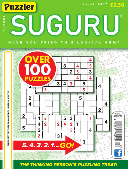 Puzzler Suguru July 19, 2017 00:00