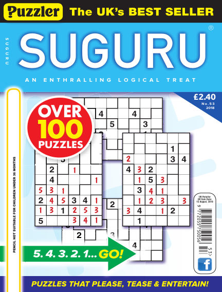 Puzzler Suguru July 18, 2018 00:00