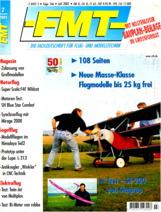 FMT - FLUGMODELL UND TECHNIK 07/2001