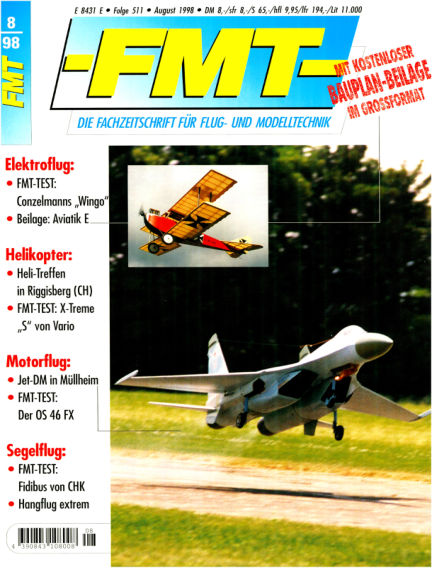 FMT - FLUGMODELL UND TECHNIK July 26, 1998 00:00
