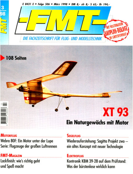 FMT - FLUGMODELL UND TECHNIK February 22, 1998 00:00
