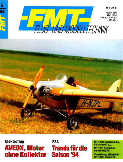 FMT - FLUGMODELL UND TECHNIK April 24, 1994 00:00