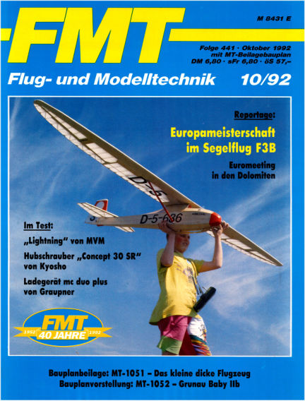 FMT - FLUGMODELL UND TECHNIK September 27, 1992 00:00