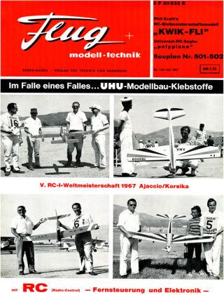 FMT - FLUGMODELL UND TECHNIK 07/1967