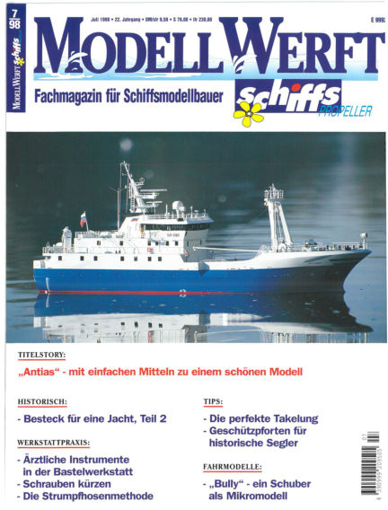 MODELLWERFT June 01, 1998 00:00
