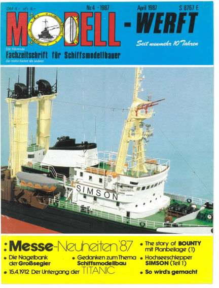 MODELLWERFT March 02, 1987 00:00
