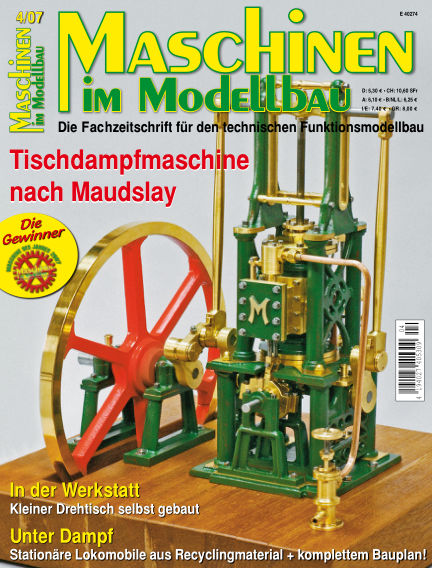Maschinen im Modellbau July 02, 2007 00:00