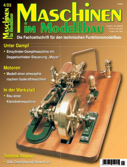 Maschinen im Modellbau July 01, 2005 00:00