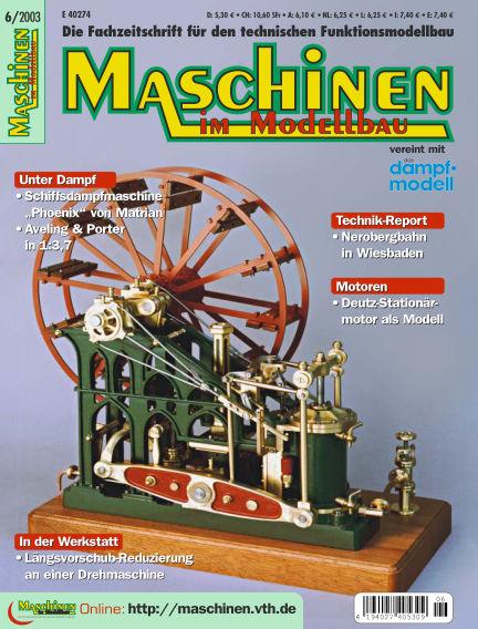 Maschinen im Modellbau November 03, 2003 00:00