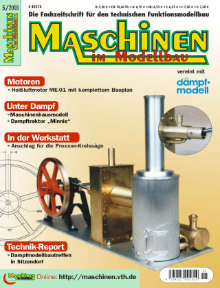 Maschinen im Modellbau 05/2003