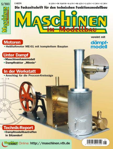 Maschinen im Modellbau September 01, 2003 00:00
