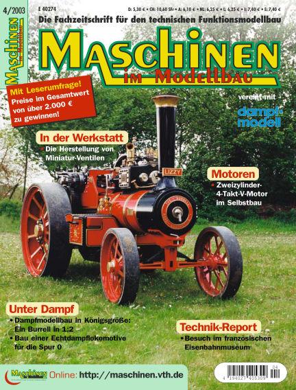 Maschinen im Modellbau July 01, 2003 00:00