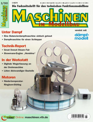 Maschinen im Modellbau 03/2003