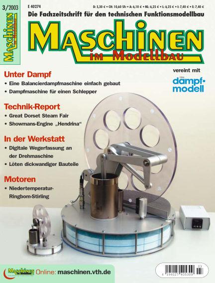 Maschinen im Modellbau May 01, 2003 00:00