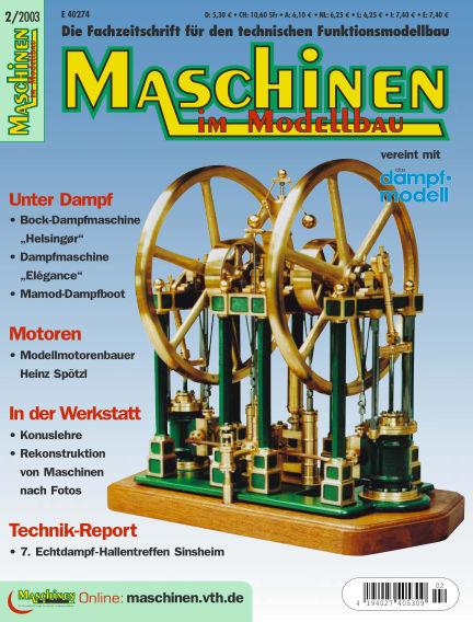 Maschinen im Modellbau March 03, 2003 00:00