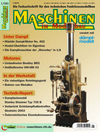 Maschinen im Modellbau 01/2003