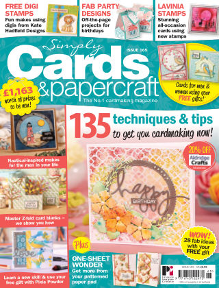 Simply Cards and Papercraft Issue 165