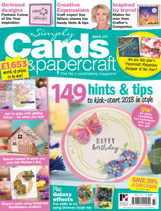 Simply Cards and Papercraft Issue 173